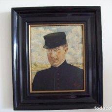 Arte: CUADRO AL OLEO ALBERTO I DE BELGICA 1914. Lote 144389894