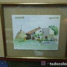 Arte: ACUARELA PAISAJE MASIA CATALANA. Lote 144437742