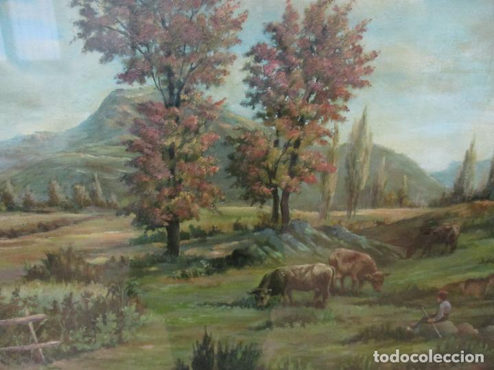 Arte: Óleo sobre Tela - Antonio Aragó (Castellón de la Plana 1883 - Olot 1959) - Paisaje -Escuela Catalana - Foto 3 - 144447370