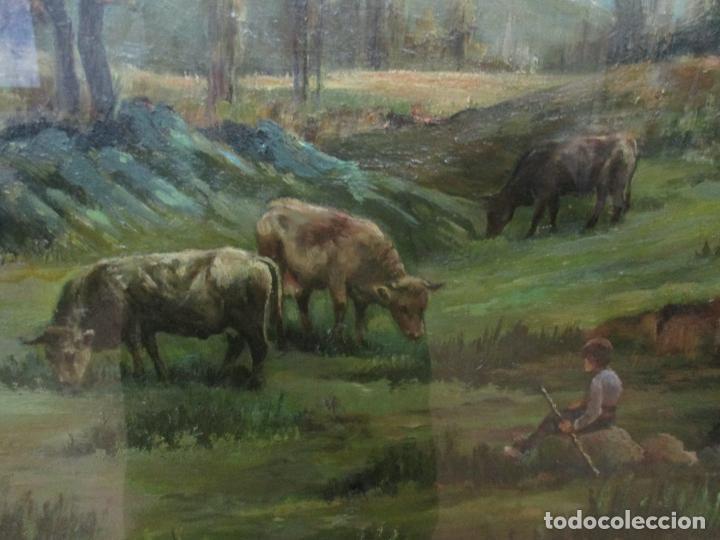 Arte: Óleo sobre Tela - Antonio Aragó (Castellón de la Plana 1883 - Olot 1959) - Paisaje -Escuela Catalana - Foto 4 - 144447370