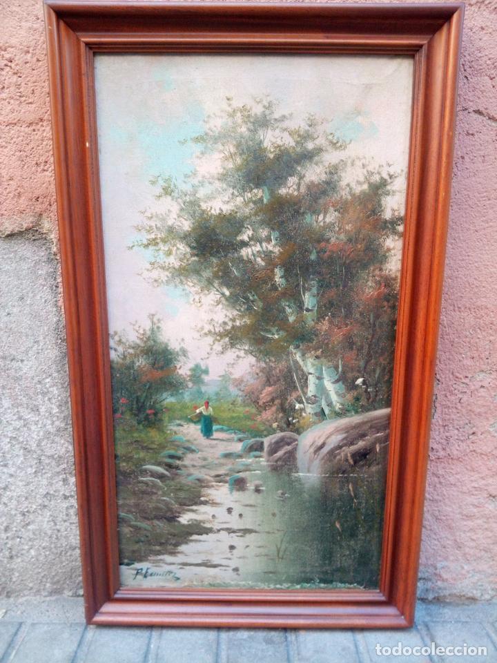OLEO SOBRE TELA ,PERE ESCUDER SXIX (Arte - Pintura - Pintura al Óleo Moderna siglo XIX)