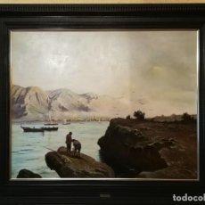 Arte: CUADRO GRANDE DE PAISAJE GALICIA ATHANEE. Lote 144544238