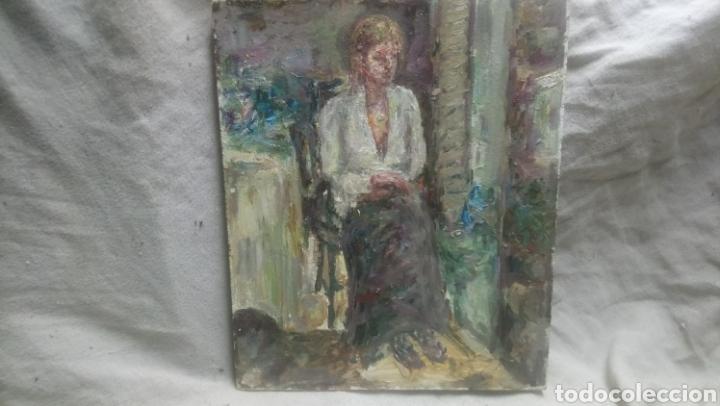 SENTADA JUNTO A LA VENTANA (GRAN CALIDAD) (Arte - Pintura - Pintura al Óleo Contemporánea )