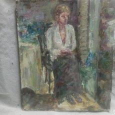 Arte: SENTADA JUNTO A LA VENTANA (GRAN CALIDAD). Lote 144576368