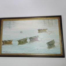 Arte: CUADRO-OLEO-PILAR DIAZ MONTERROSO-MARINA-CON MARCO.. Lote 27271914
