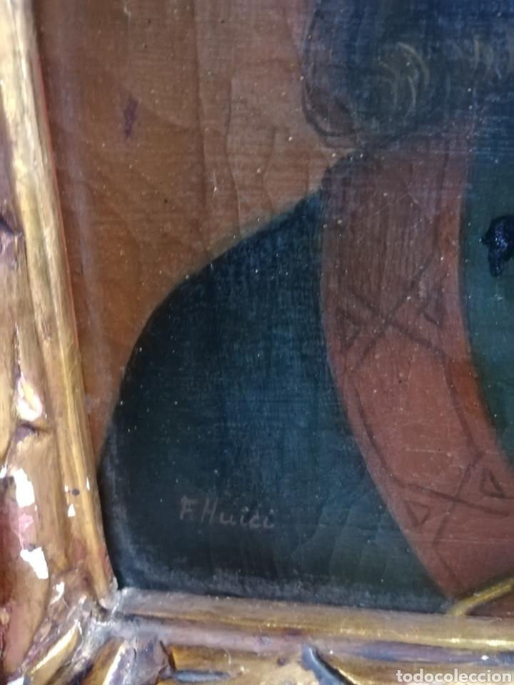 Arte: Óleo sobre lienzo principio XIX firmado F. HUICI - Foto 7 - 213236440