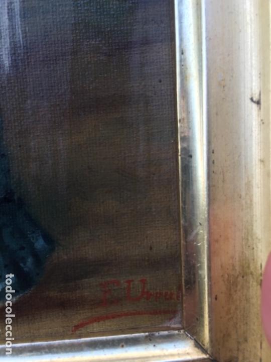 Arte: (M) OLEO ANDALUZA CON MANTON DE MANILA FIRMADO F URPER , 265 X 205 CM, SEÑALES DE USO - Foto 7 - 113146887