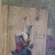 Arte: BODEGÓN DE PÁJAROS. LÉOPOLD DYKERS (1860-1921). Lote 140253898
