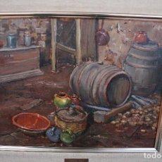 Arte: TOMAS VILA (LA CELLERA DE TER, GIRONA, 1952) PRECIOSO BOBEGON, OLEO SOBRE TELA, FIRMADO. Lote 144772950