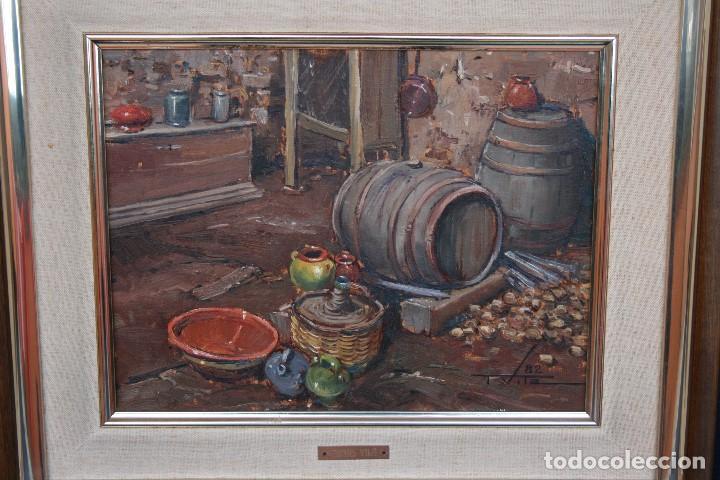 Arte: TOMAS VILA (La Cellera de Ter, Girona, 1952) PRECIOSO BOBEGON, OLEO SOBRE TELA, FIRMADO - Foto 4 - 144772950