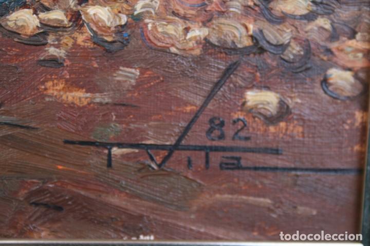 Arte: TOMAS VILA (La Cellera de Ter, Girona, 1952) PRECIOSO BOBEGON, OLEO SOBRE TELA, FIRMADO - Foto 6 - 144772950