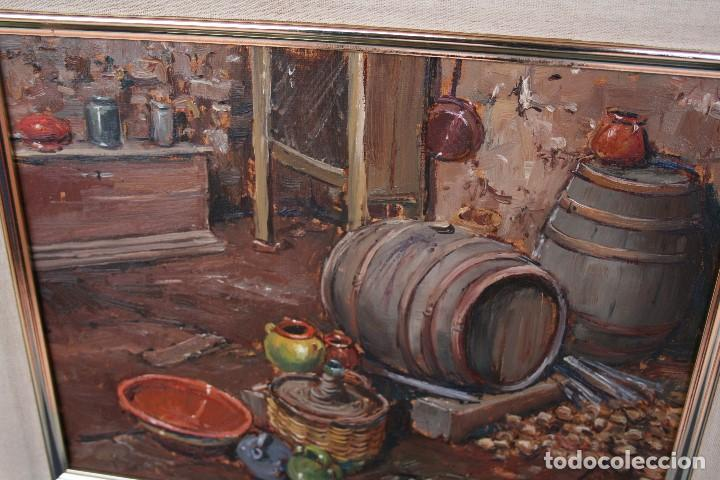Arte: TOMAS VILA (La Cellera de Ter, Girona, 1952) PRECIOSO BOBEGON, OLEO SOBRE TELA, FIRMADO - Foto 7 - 144772950