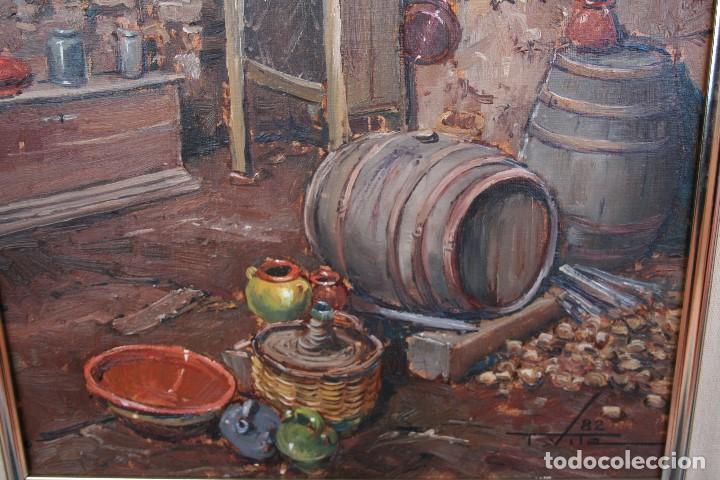 Arte: TOMAS VILA (La Cellera de Ter, Girona, 1952) PRECIOSO BOBEGON, OLEO SOBRE TELA, FIRMADO - Foto 8 - 144772950