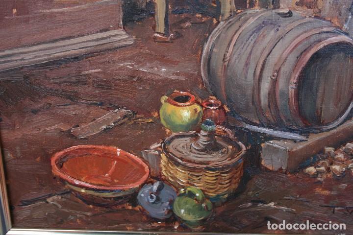 Arte: TOMAS VILA (La Cellera de Ter, Girona, 1952) PRECIOSO BOBEGON, OLEO SOBRE TELA, FIRMADO - Foto 9 - 144772950