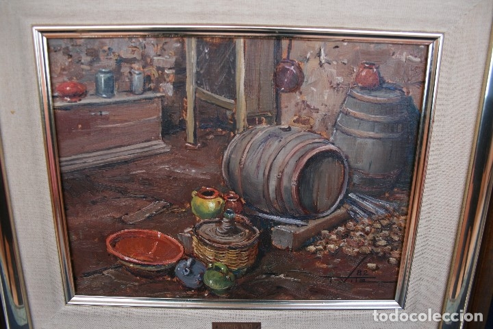 Arte: TOMAS VILA (La Cellera de Ter, Girona, 1952) PRECIOSO BOBEGON, OLEO SOBRE TELA, FIRMADO - Foto 11 - 144772950