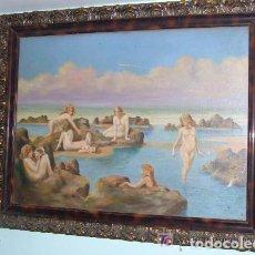 Arte: PINTURA TELA AL OLEO PAISAJE FIRMADO. Lote 145011162