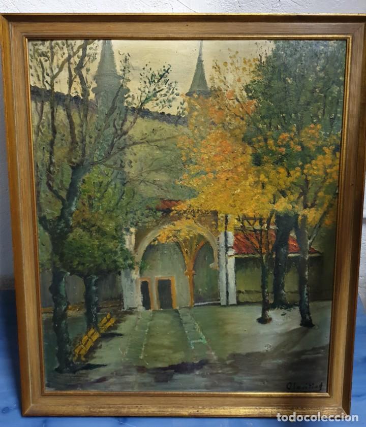 PINTURA AL ÓLEO LIENZO SOBRE TABLA PINTURA VASCA ENMARCADO 72X61 CM. (Arte - Pintura - Pintura al Óleo Contemporánea )