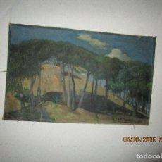 Arte: ANTIGUA PINTURA IMPRESIONISTA OLEO FIRMADO 1913 JOSE AZNAR NACIDO ALICANTE IDEAL COLECCIONSTAS. Lote 145098158