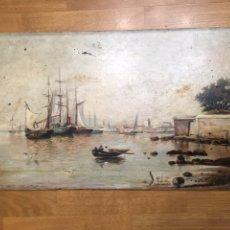 Arte: ANTIGUA PINTURA AL ÓLEO SOBRE TABLA - PAISAJE - FIRMADO Y FECHADO M. TEJERO 1905. Lote 145132989