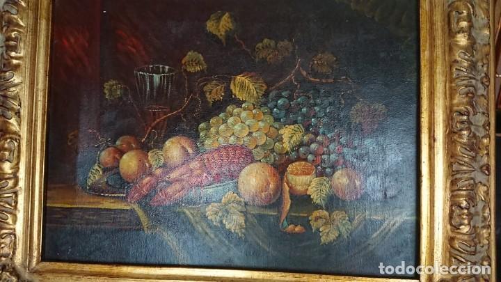 ÓLEO SOBRE LIENZO BODEGÓN CON LANGOSTA (Arte - Pintura - Pintura al Óleo Contemporánea )
