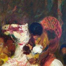 Arte: VALENCIA.BARTOLOME MONGRELL MUÑOZ( 1882-1938). FIESTA. PIEZA COLECCIÓN. Lote 145180096