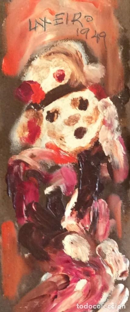 ÓLEO SOBRE CARTÓN DEL PINTOR LAXEIRO (LALÍN, 1908 - VIGO, 21 DE JULIO DE 1996) (Arte - Pintura - Pintura al Óleo Contemporánea )