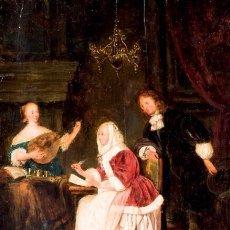 Arte: LECCIÓN DE MÚSICA FIRMADO WILLIAM VAN MIERIS SIGLO XVIII. Lote 145307878
