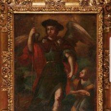 Arte: ESCUELA COLONIAL, S.XVIII TOBÍAS Y EL ARCÁNGEL SAN RAFAEL. Lote 146207528