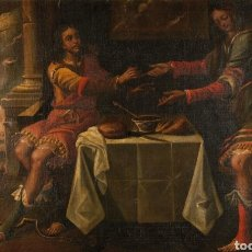 Arte: ESCUELA ITALIANA, S.XVII. JACOB Y ESAÚ. Lote 145314738