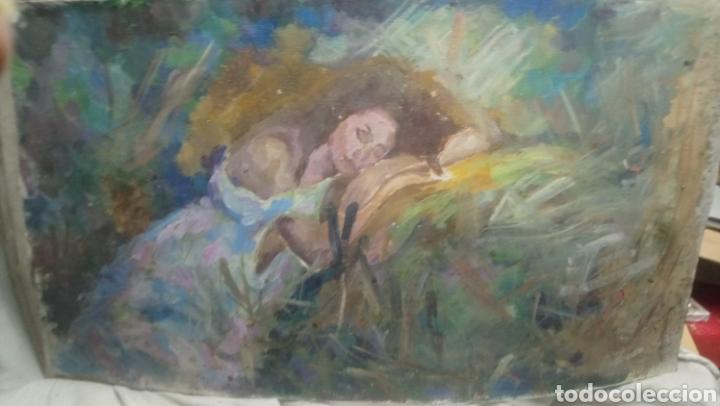 MUJER DESCANSANDO (GRAN CALIDAD) (Arte - Pintura - Pintura al Óleo Contemporánea )