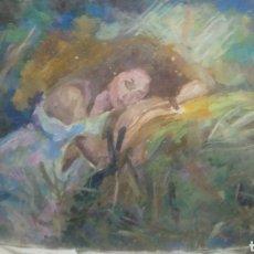 Arte: MUJER DESCANSANDO (GRAN CALIDAD). Lote 145380090