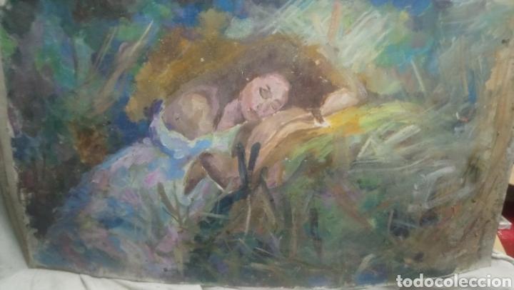 Arte: Mujer descansando (gran calidad) - Foto 2 - 145380090