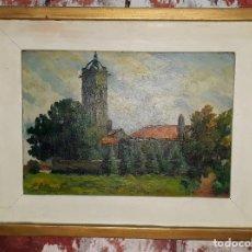 Arte: OLEO SOBRE TABLA - FIRMADO. Lote 145474106