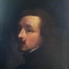 Arte: PINTURA,OLEO SIGLO XVIII,AUTORETRATO PINTOR ANTON VAN DYCK,MAESTRO CON RUBENS,FIRMADA J.A. DE AYALA. Lote 144734790