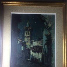 Arte: ÓLEO SOBRE TABLA DE MANUEL MORA YUSTE (1932-1997) NOCHE DE LUNA. Lote 145655566