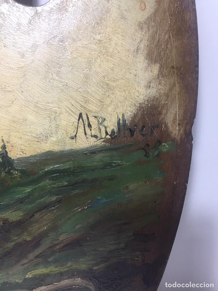 Arte: Paleta pintada al óleo y firmada JL Bellver - Foto 2 - 145659028