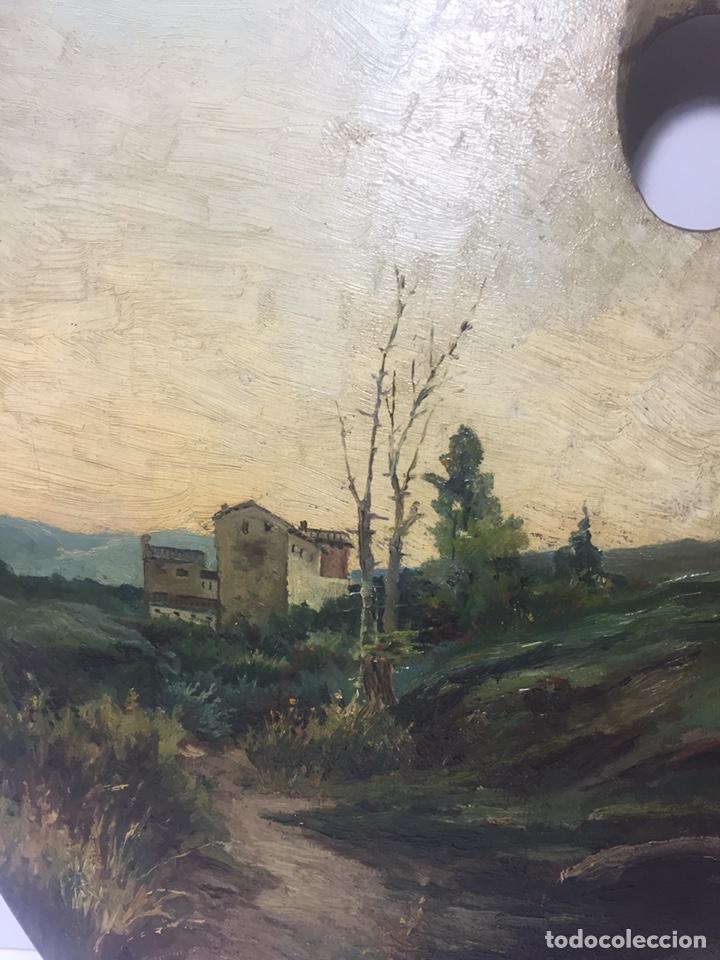 Arte: Paleta pintada al óleo y firmada JL Bellver - Foto 3 - 145659028