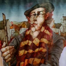 Arte: JORGE LUDUEÑA, INTERESANTE PINTURA FIRMADA.. Lote 145695977