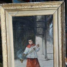 Arte: EDUARDO SÁNCHEZ SOLÁ (1869-1949) - MONAGUILLO. Lote 145725241