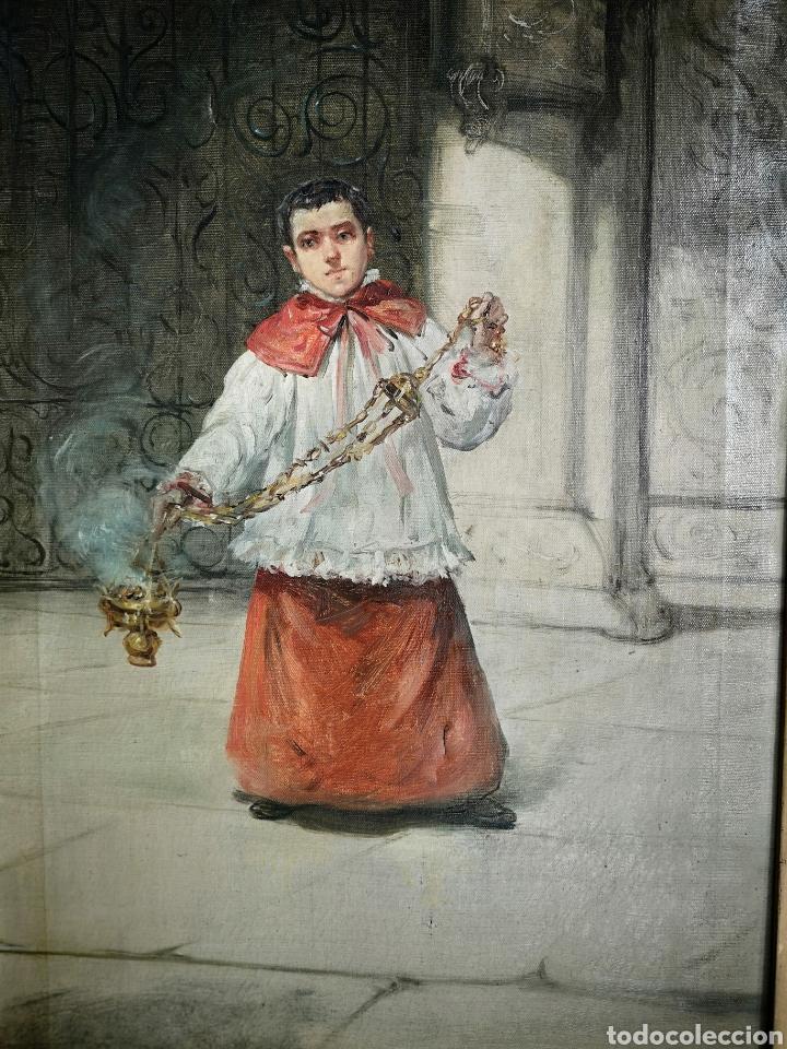 Arte: Eduardo Sánchez Solá (1869-1949) - Monaguillo - Foto 2 - 145725241