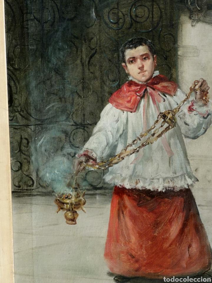 Arte: Eduardo Sánchez Solá (1869-1949) - Monaguillo - Foto 3 - 145725241