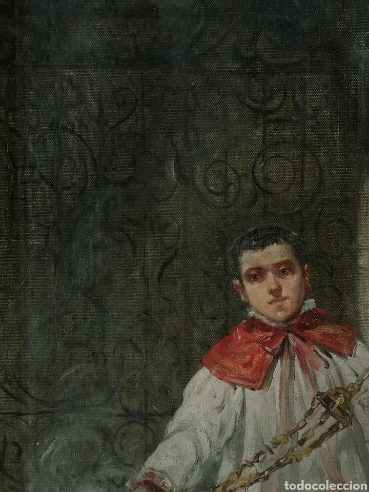 Arte: Eduardo Sánchez Solá (1869-1949) - Monaguillo - Foto 5 - 145725241