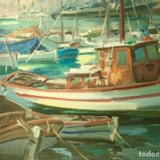 Arte: MARINA DEL PINTOR EDUARDO VIAL HUGAS (1910-1999). Lote 145817466