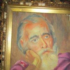 Arte: ANTIGUA PINTURA IMPRESIONISTA RETRATO RELIGIOSO O AUTORRETRATO OLEO SOBRE LIENZO. Lote 145874570