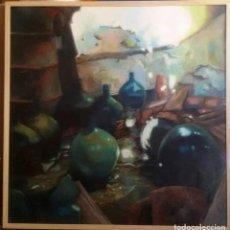 Arte: DAMAJUANAS. OLEO SOBRE LIENZO 100X100. MOLDURA MADERA NATURAL. Lote 145939850