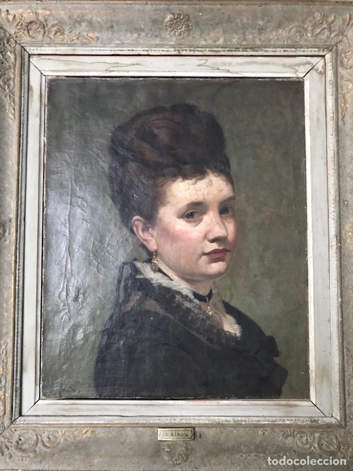 CHARLES GIRON (GENEVA 1850-1914), OIL ON CANVAS, 1876. (Arte - Pintura - Pintura al Óleo Moderna siglo XIX)