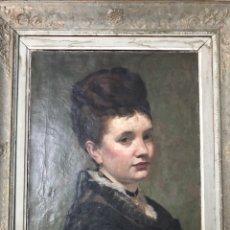 Arte: CHARLES GIRON (GENEVA 1850-1914), OIL ON CANVAS, 1876.. Lote 146011401