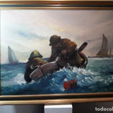 Arte: OLEO SOBRE LIENZO FDO JUAN VIÑAS 75. Lote 146075178