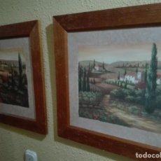 Arte: 2 CUADROS FIRMADOS POR LA MISMA AUTORA PINTURA RURAL POR VIVIAN FLASCH. Lote 146146754
