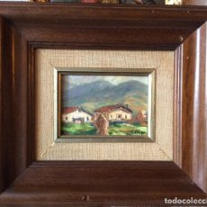 Arte: ÖLEO SOBRE TABLA,REPRESENTANDO CASERIOS . Lote 146246466